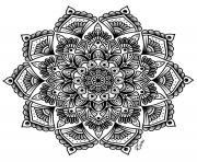 Printable mandala complex adult flowers art therapy coloring pages