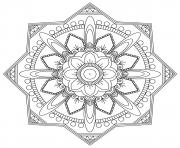 Printable simple mandala adult easy fun coloring pages