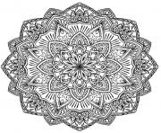 Printable mandala adult complex flowers coloring pages