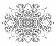Printable mandala floral background design hd coloring pages