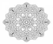 Printable mandala adult abstract art therapy coloring pages