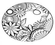 Printable mandala flowers vegetation nature coloring pages