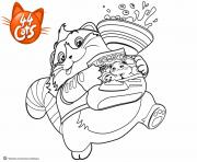 Printable Polpetta Cat Love Eating 44 Cats coloring pages