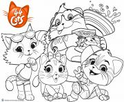 Printable Buffycats 44 Cats coloring pages