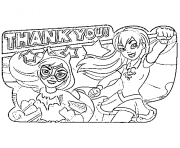 Printable DC SuperHero Girls Thank You coloring pages