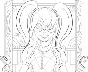 Printable Harley Quinn Super Girls coloring pages
