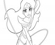 Wonder Woman from DC Superhro Girls coloring pages