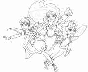 Wonder woman and friends super hero girls coloring pages
