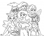 Printable Wonder Woman DC Superhero Girls coloring pages