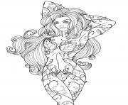 Printable Girls of Batman Comics Poison Ivy coloring pages
