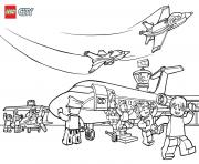 Printable Lego City Airport coloring pages