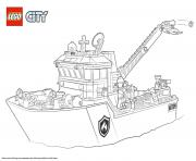 Printable Lego City Fire Boat coloring pages