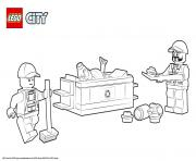 Printable Lego City Garbage Truck coloring pages
