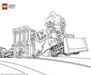 Printable Lego city catch the crooks coloring pages