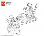 Printable Lego City Police Tire Escape coloring pages