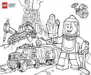 Printable Lego City Volcano Explorers coloring pages