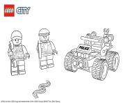 Printable Lego City ATV Patrol Police coloring pages