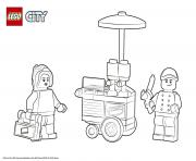 Printable Lego City Square coloring pages