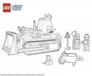 Printable Lego City Bulldozer Construction coloring pages