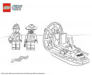Printable Lego City Swamp Police Starter Set coloring pages