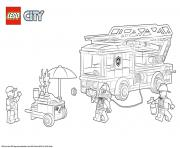 Printable Lego City Fire Station coloring pages