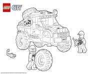 Printable Lego City 4x4 Off Roader coloring pages