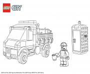 Printable Lego City Service Truck coloring pages