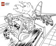 Printable Lego City Bulldozer coloring pages