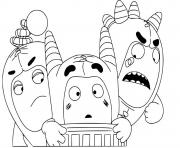 Printable cute oddbods coloring pages