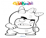 Printable oddbods angry coloring pages