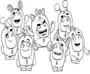 Printable oddbods coloring pages