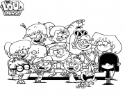 Printable The Loud House coloring pages
