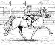 Printable Dressage horse coloring pages