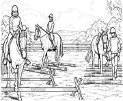 Printable horses Riders coloring pages