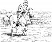 Printable Horse and Rider coloring pages