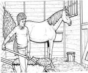 Printable Shoveling Stalls coloring pages