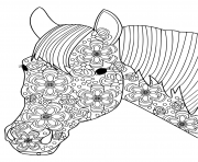 Printable head horse for adults anti stress coloring pages