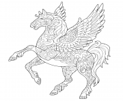 Printable pegasus greek mythological winged horse flying coloring pages