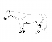 Printable horse isolated coloring pages