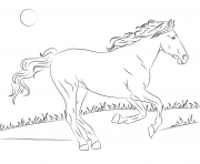Printable beautiful mustang horse coloring pages