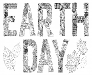 Printable earth day adult activite art anti stress coloring pages