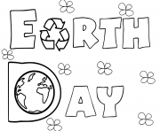 Printable earth day activities coloring pages