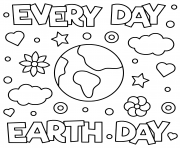 Printable everyday earth day coloring pages