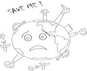 Printable earth day save me coloring pages