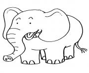 The African Elephantt a4 coloring pages