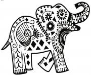 henna elephant motifs amusants