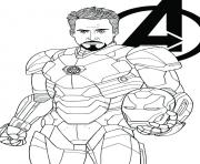 avengers endgame iron man tony stark coloring pages