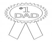 Printable 1 dad ribbon coloring pages