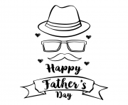 Printable happy father day hand draw celebration coloring pages