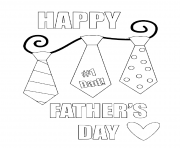 Printable happy fathers day coloring pages